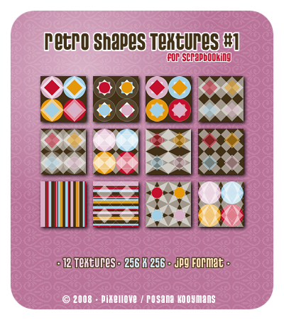 Retro Shapes Scrapbooking Textures #1