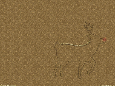 Rudolph's Gold Christmas wallpapers