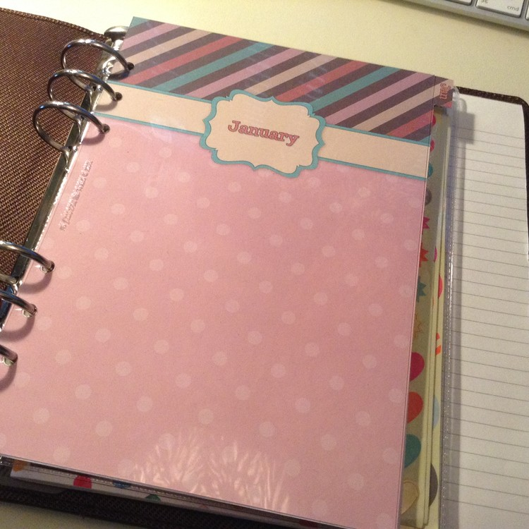Filofax Graphic brown A5 planner tabs