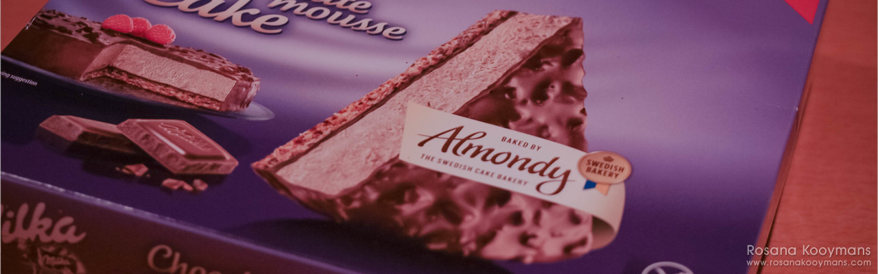 Almondy Milka chocolate mousse cake