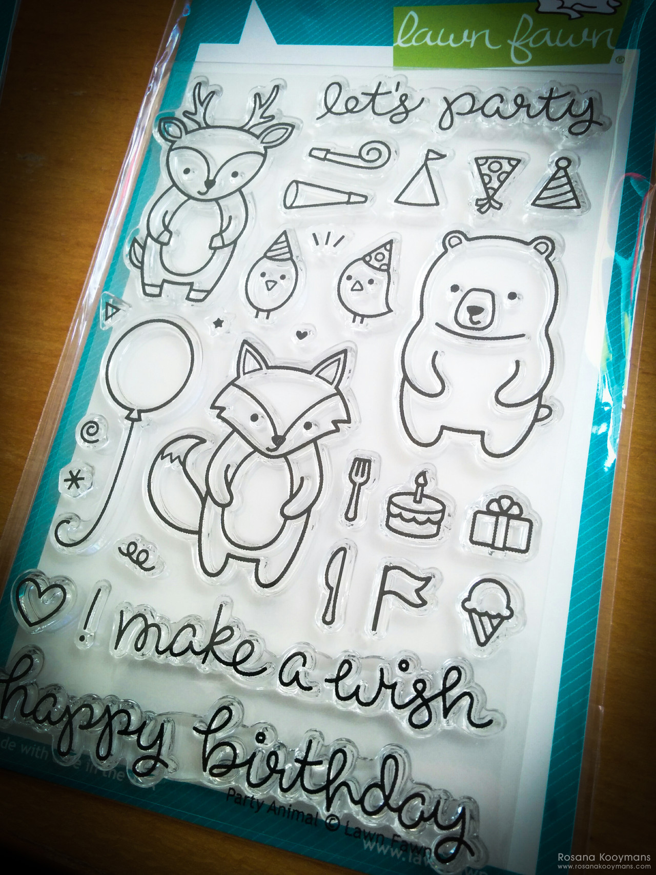 365 - March 28, 2017: Lawn Fawn: Party Animal stamps clear stamp photopolymer