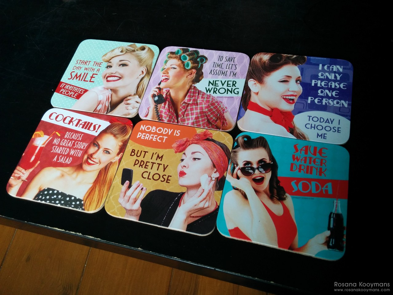 365 - April 13, 2017: Retro coasters snarky witty funny pinup