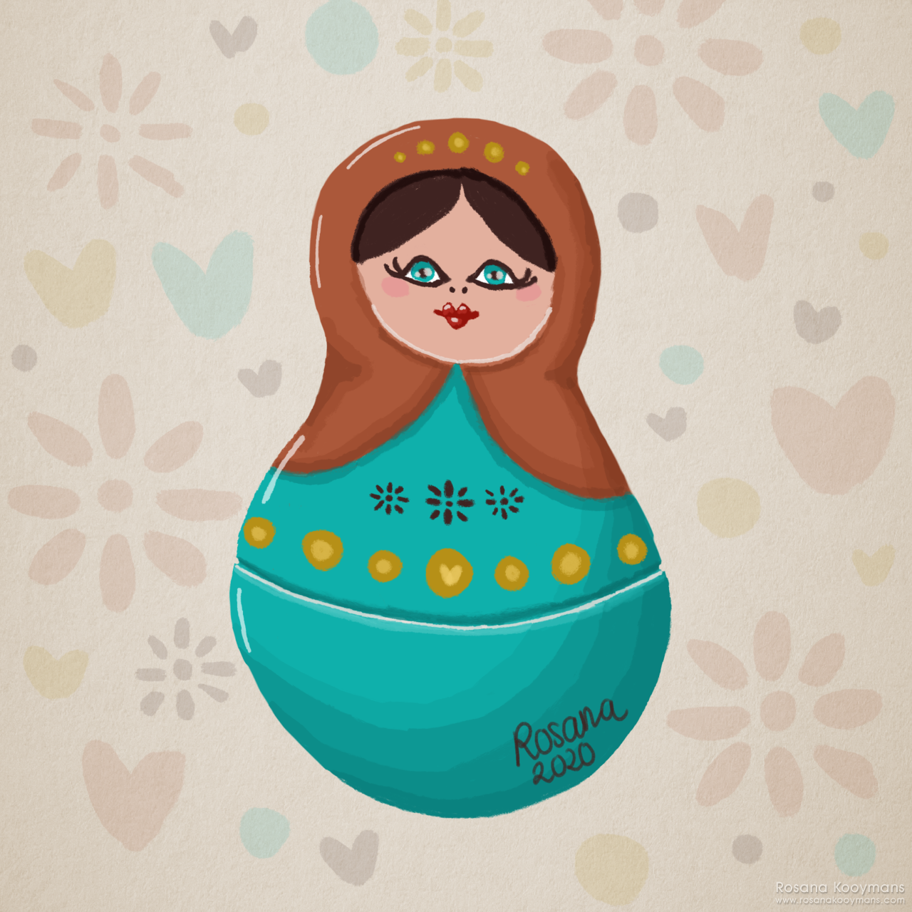 Matryoshka Doll Illustration by Rosana Kooymans